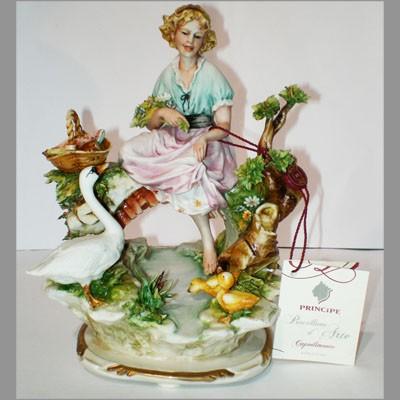 Фарфоровая статуэтка «Девушка у ручья»