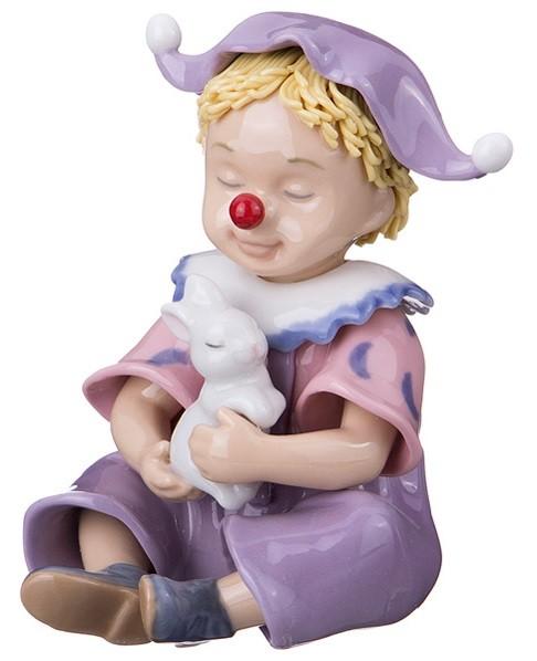 Фарфоровая статуэтка «Клоун с зайцем»