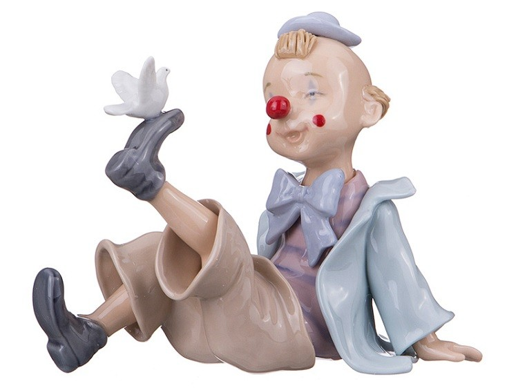 Фарфоровая статуэтка «Влюблённый клоун»