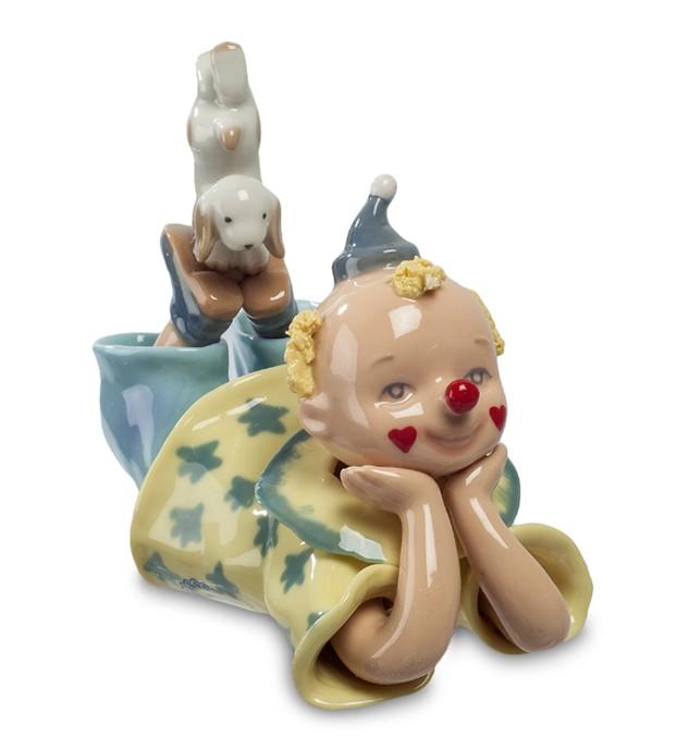 Фарфоровая статуэтка «Клоун с собакой»