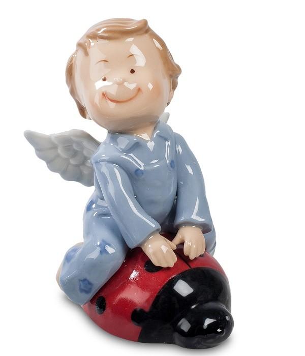 Фарфоровая статуэтка «Ангелочек на божьей коровке»