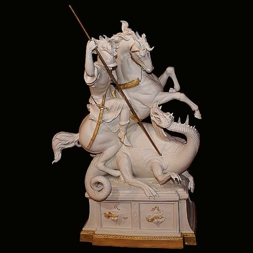 Фарфоровая статуэтка «Георгий-победоносец»