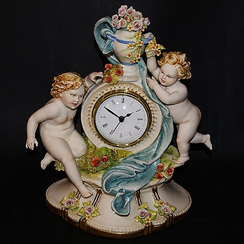 Часы с ангелочками Porcellane Principe
