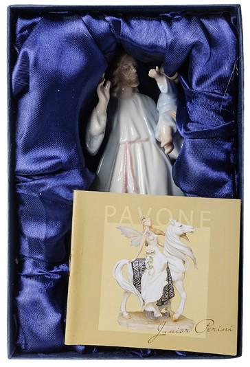 Фарфоровая статуэтка «Иисус Христос с мальчиком»