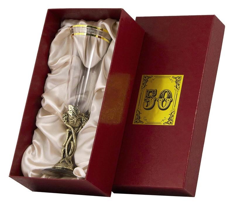 Бокал для шампанского на юбилей «50 лет»