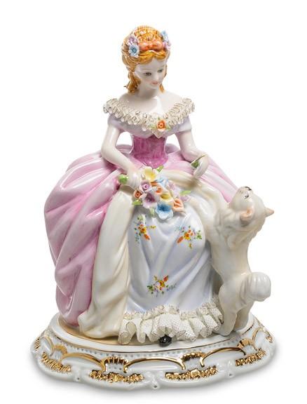 Фарфоровая статуэтка «Дама с собачкой»