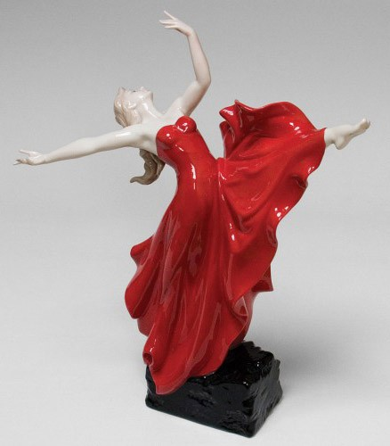 Фарфоровая статуэтка «Танцовщица»