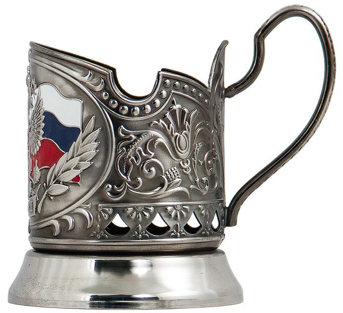 Подстаканник в наборе «Герб России» для руководителя