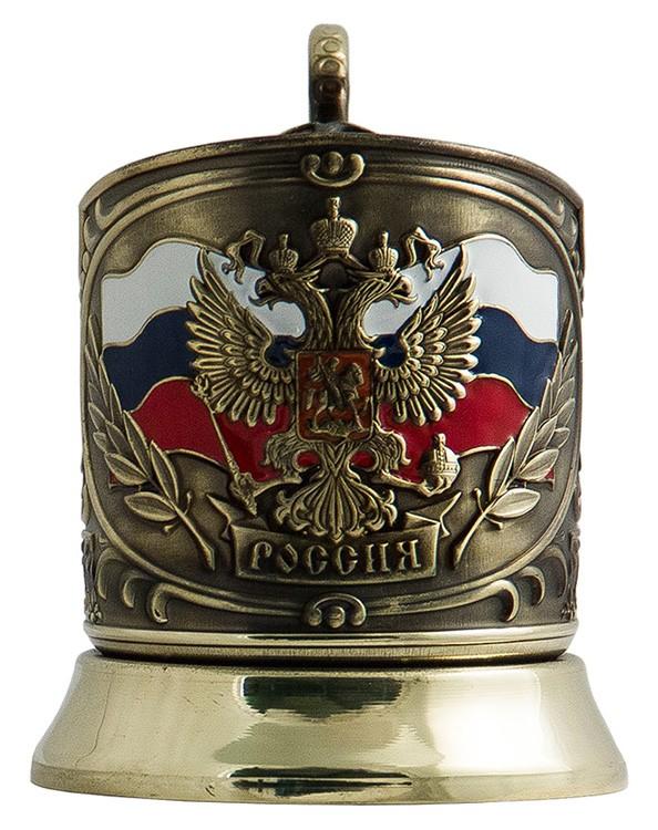 Подстаканник в подарочном наборе «Герб России» ПД-2эУ-л