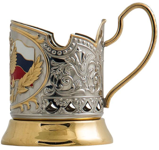 Подстаканник в наборе «Герб России» подарок начальнику