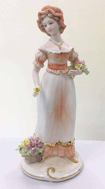 Фарфоровая статуэтка «Цветочница»