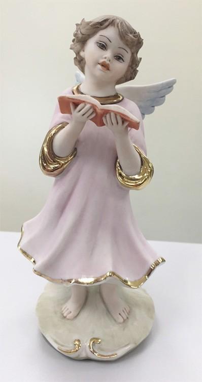 Фарфоровая статуэтка «Ангелочек с книгой»