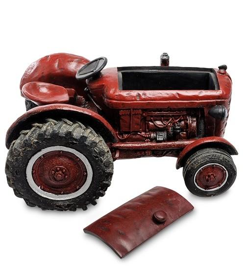 Кашпо «Трактор красный»