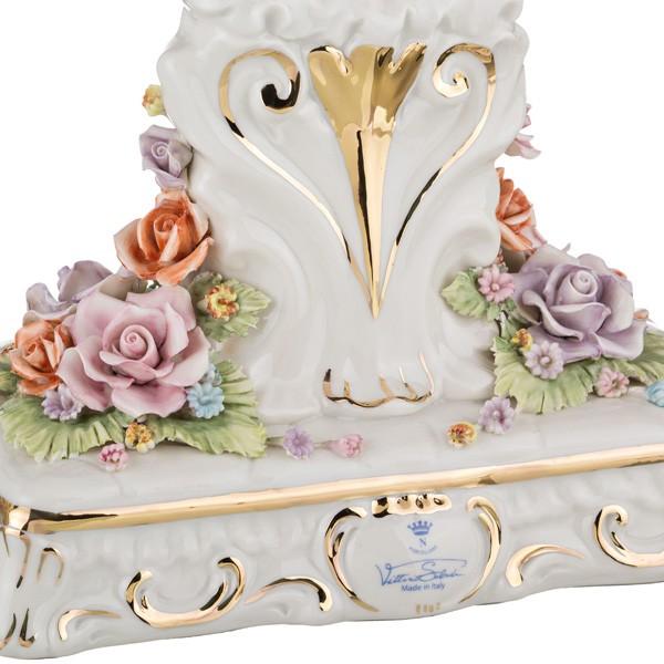 Фарфоровые часы «Цветы»