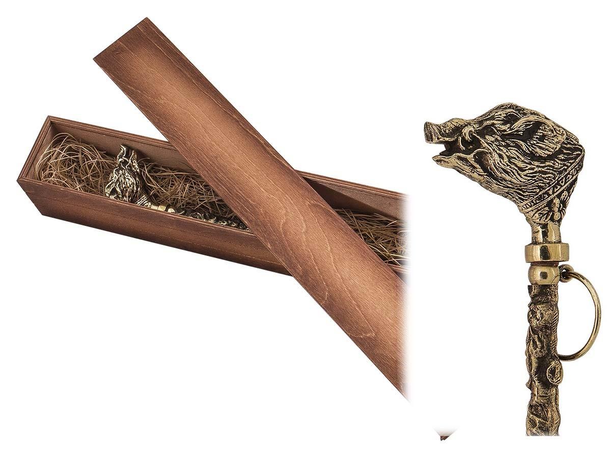Ложка для обуви «Кабан» в деревянном футляре