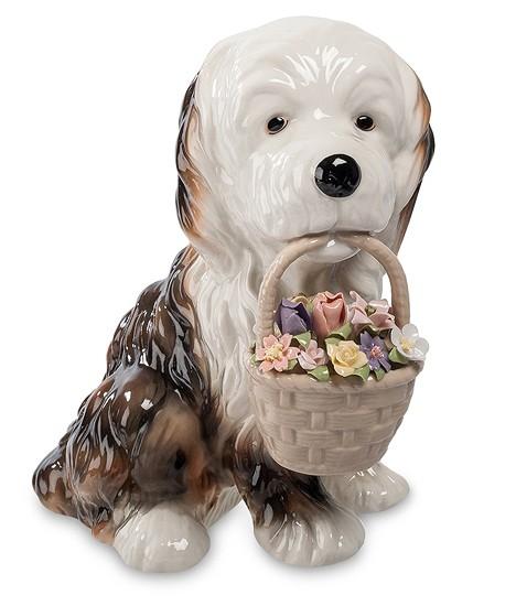 Статуэтка «Собака с цветами»