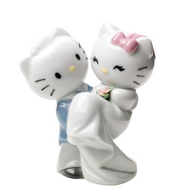 Фарфоровая статуэтка «Кошки. Новобрачные HELLO KITTY»