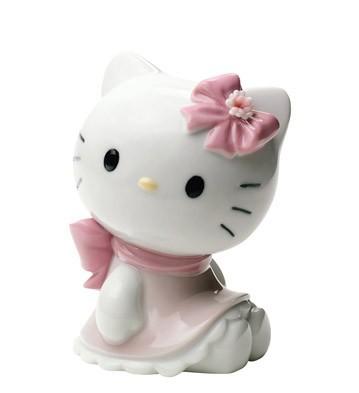 Фарфоровая статуэтка «Кошка. HELLO KITTY!»