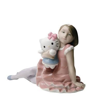Фарфоровая статуэтка «Играя с HELLO KITTY»