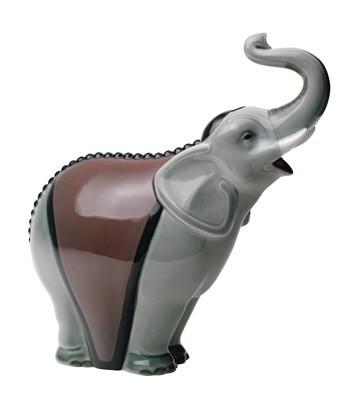 Фарфоровая статуэтка «Слон (серый)»