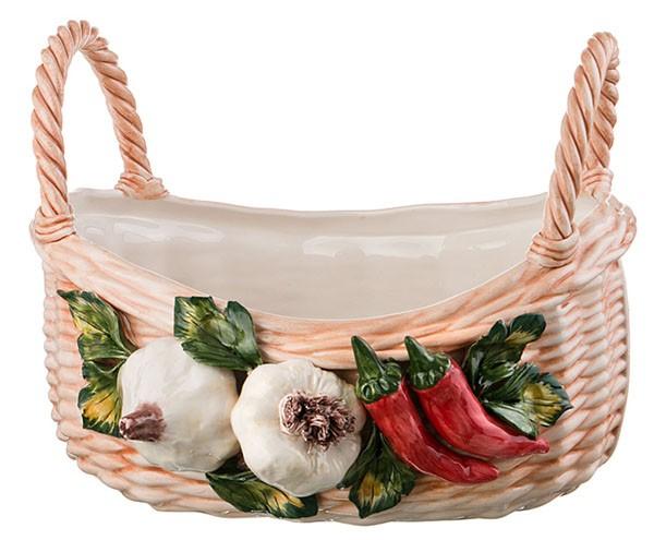 Декоративная корзина «Чеснок перец»