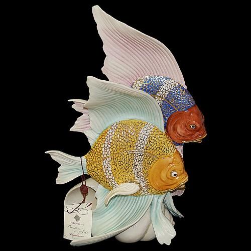 Фарфоровая статуэтка «Рыбы» Porcellane Principe