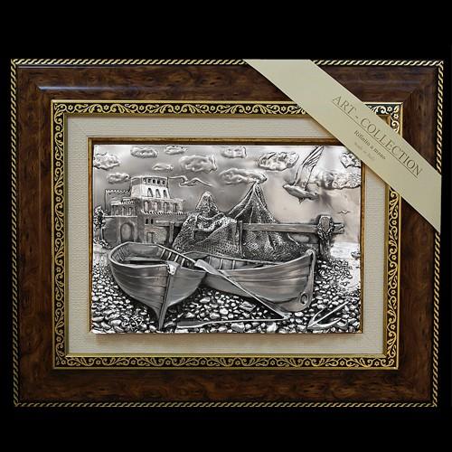 Панно «Рыбацкая сеть и лодки»