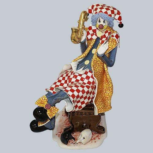 Статуэтка «Клоун с саксофоном»