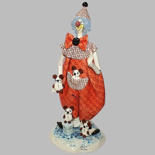 Статуэтка «Клоун с собачками»