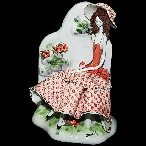 Статуэтка «Девушка на скамейке», Zampiva