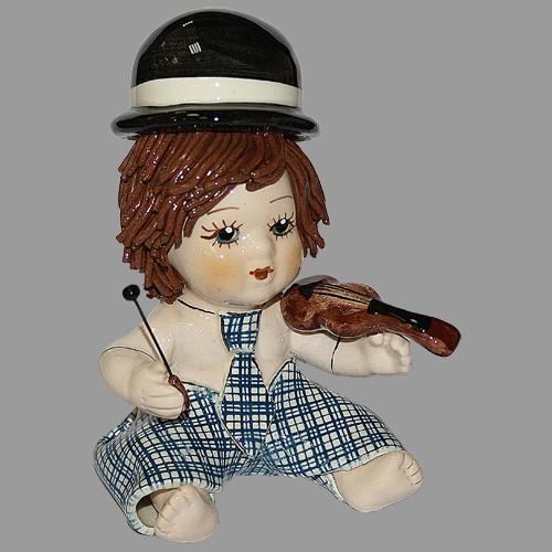 Статуэтка «Мальчик - скрипач»