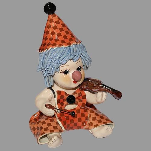 Статуэтка «Клоун - скрипач»
