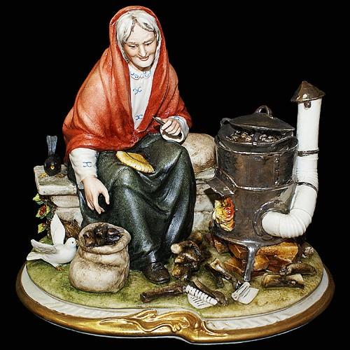 Фарфоровая статуэтка «Осенние грибы» Porcellane Principe