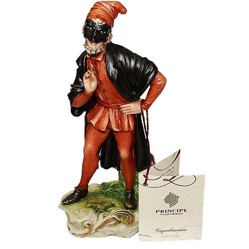Фарфоровая статуэтка «Арлекин» Porcellane Principe