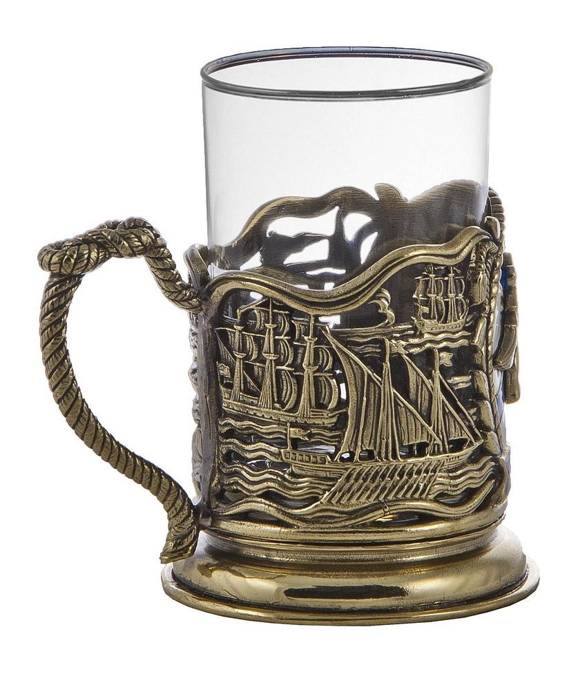 Подстаканник со стаканом «ВМФ»