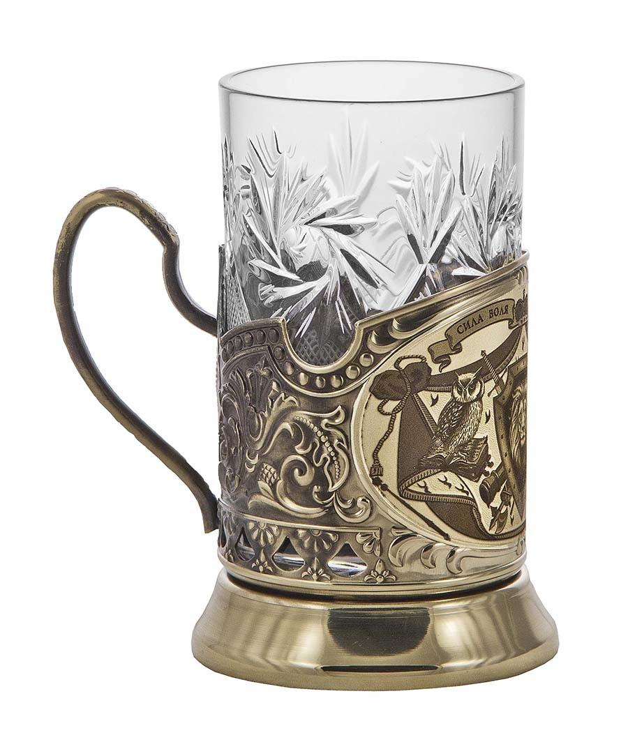 Подстаканник со стаканом «Лев» (Сила. Воля. Власть. Мудрость)