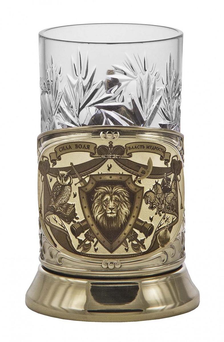 Подстаканник «Лев» (Сила. Воля. Власть. Мудрость) подарочный