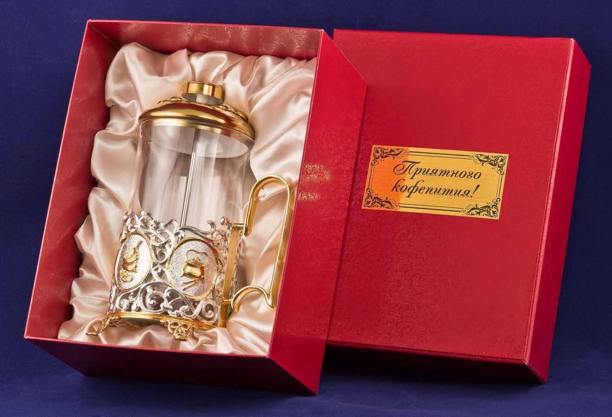 Френч-пресс для кофе VIP подарок
