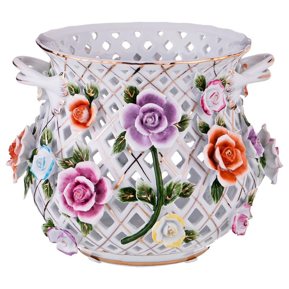 Ваза декоративная «Разноцветные цветы»