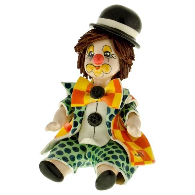 Статуэтка «Клоун зелено-желтый», Zampiva