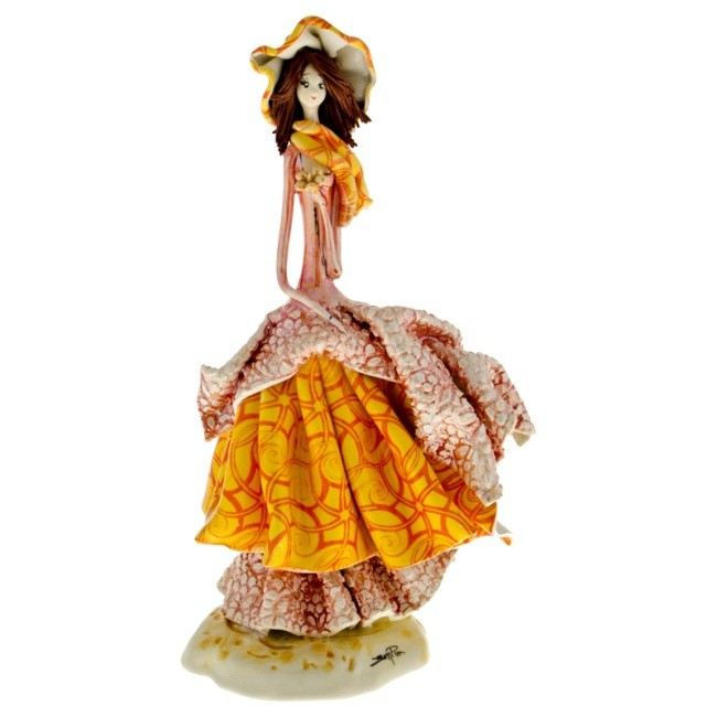 Статуэтка «Дама с цветами», Zampiva