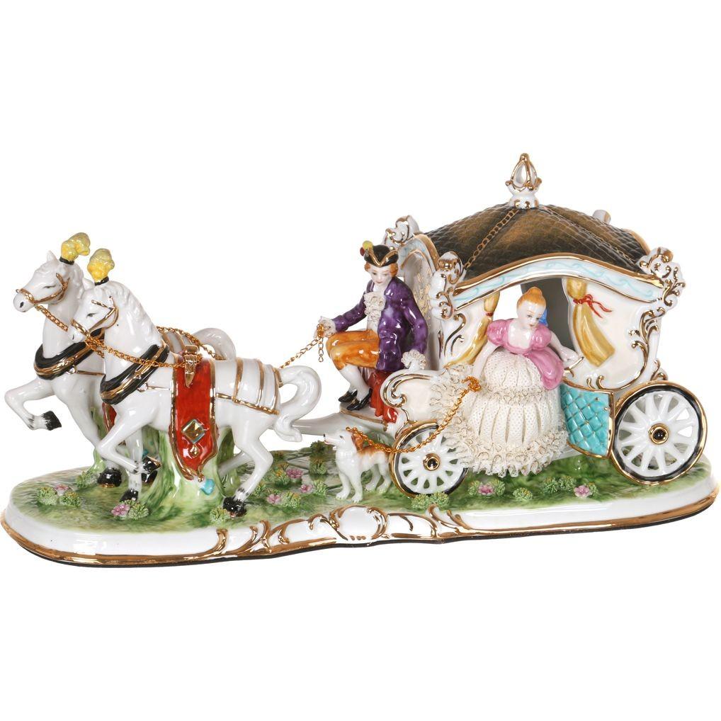 Фарфоровая статуэтка «Дама в карете»