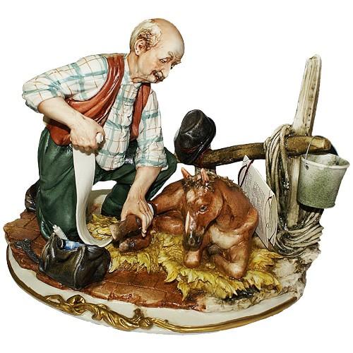Фарфоровая статуэтка «Ветеринар» Porcellane Principe