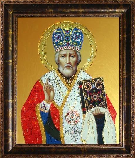 Картина Swarovski «Николай Чудотворец»