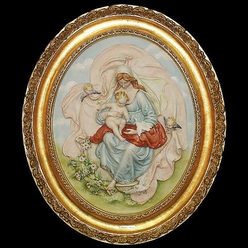 Барельеф «Мадонна с ангелочками»