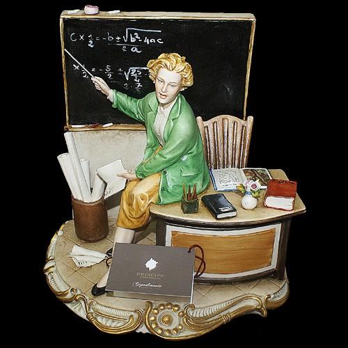 Фарфоровая статуэтка «Учительница» Porcellane Principe