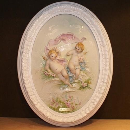 Барельеф «Ангелочки с розами»