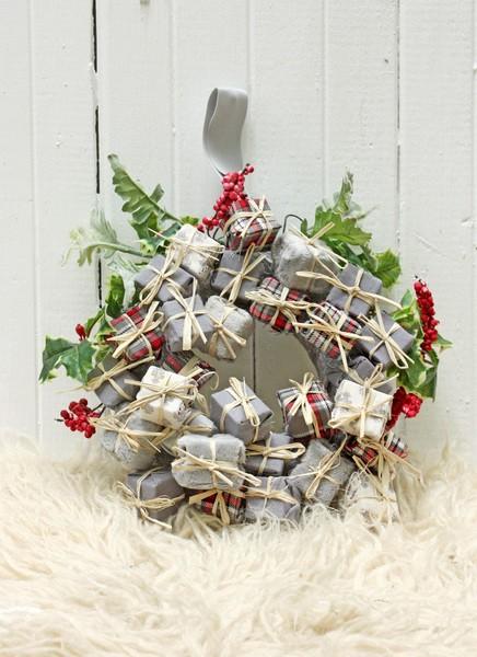 Новогодний «Подарочки» серый