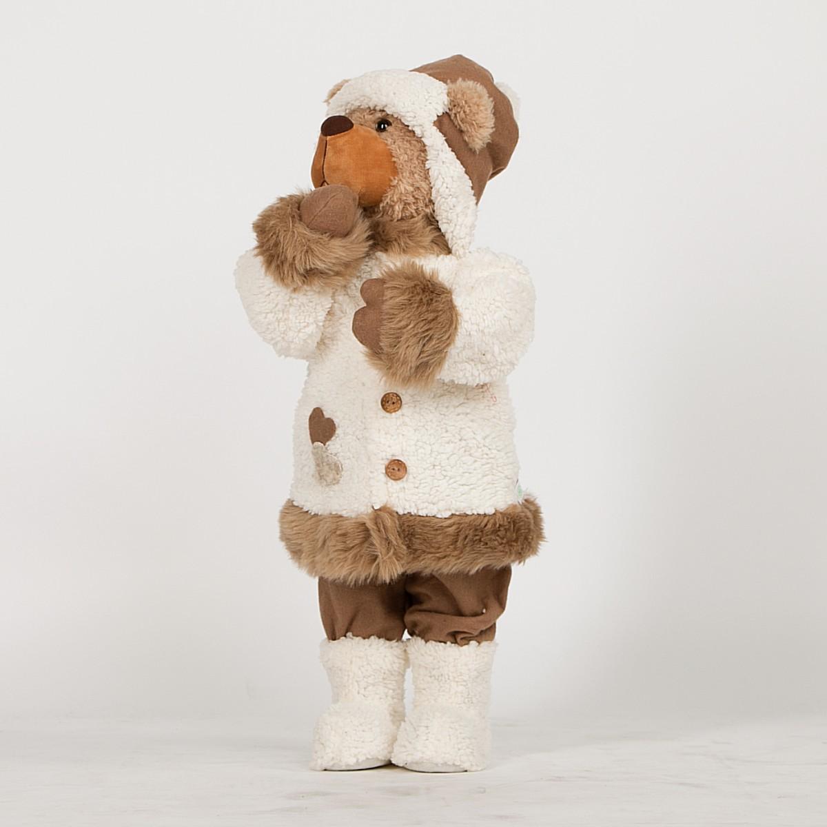 Новогодняя кукла «Мишка» в шубке