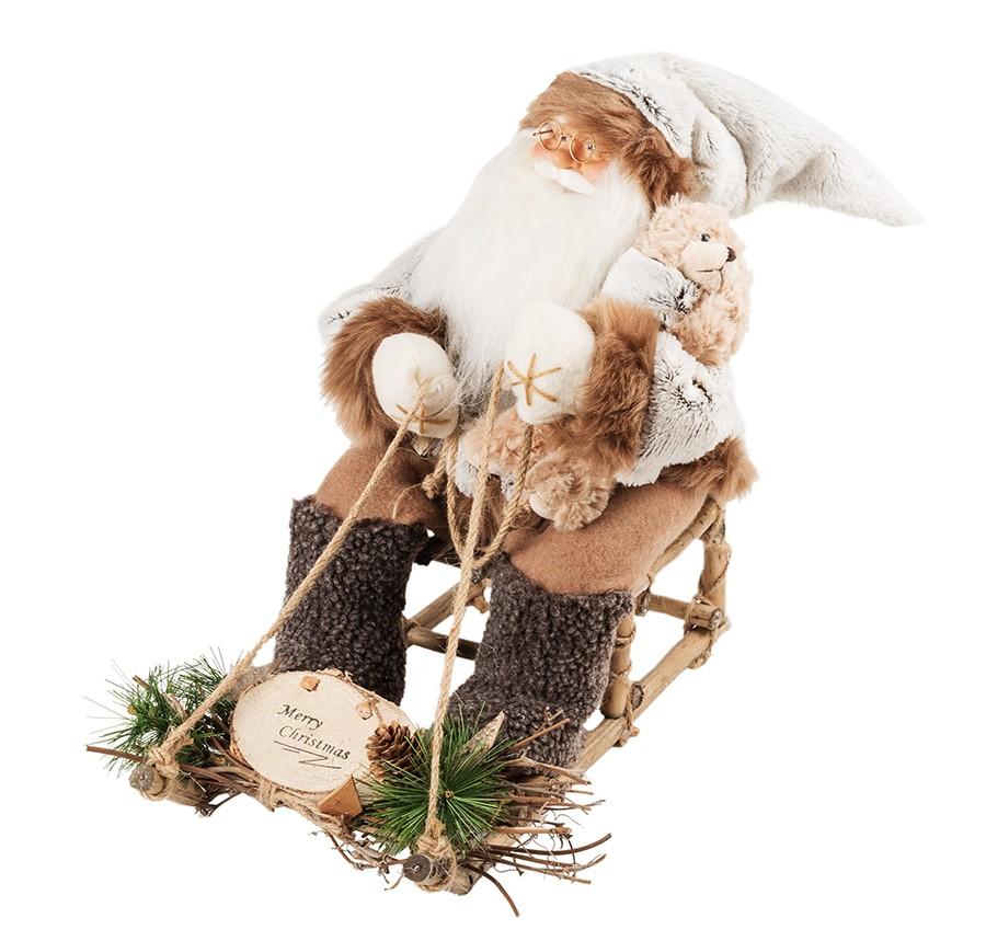 Новогодняя кукла «Санта Клаус на санях»